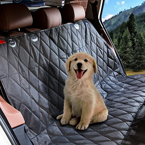 Pet Dog Car Seat Covers Protector for Back Seat, Backseat Dog Cover, Puppy Car Seat, Rear Dog Mat Seat Cover for Cars Trucks SUVs with Anchors Buckles Hammock,Anti-Scratch, Machine Washable, (Dog Car Mats)