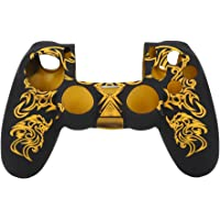 Zachte siliconen hoes voor Sony Playstation 4 PS4-controller (geel)