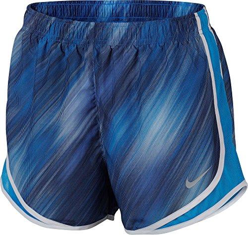 Damen Nike Dry Tempo Running Short Lt Foto Blau / Weiß
