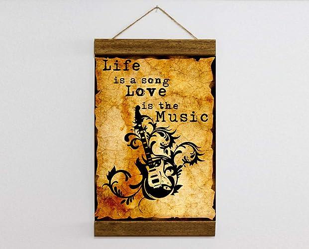 amazon com music quote fancy guitar music lover studio wall art