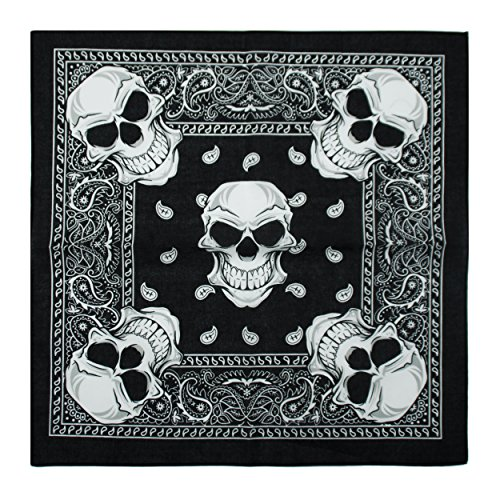 Bandana, 12 Pack 100% Cotton Bandanas for Women Men with Paisley, Flags & More (Gradient Yellow/Blue) by Benteng (Image #1)