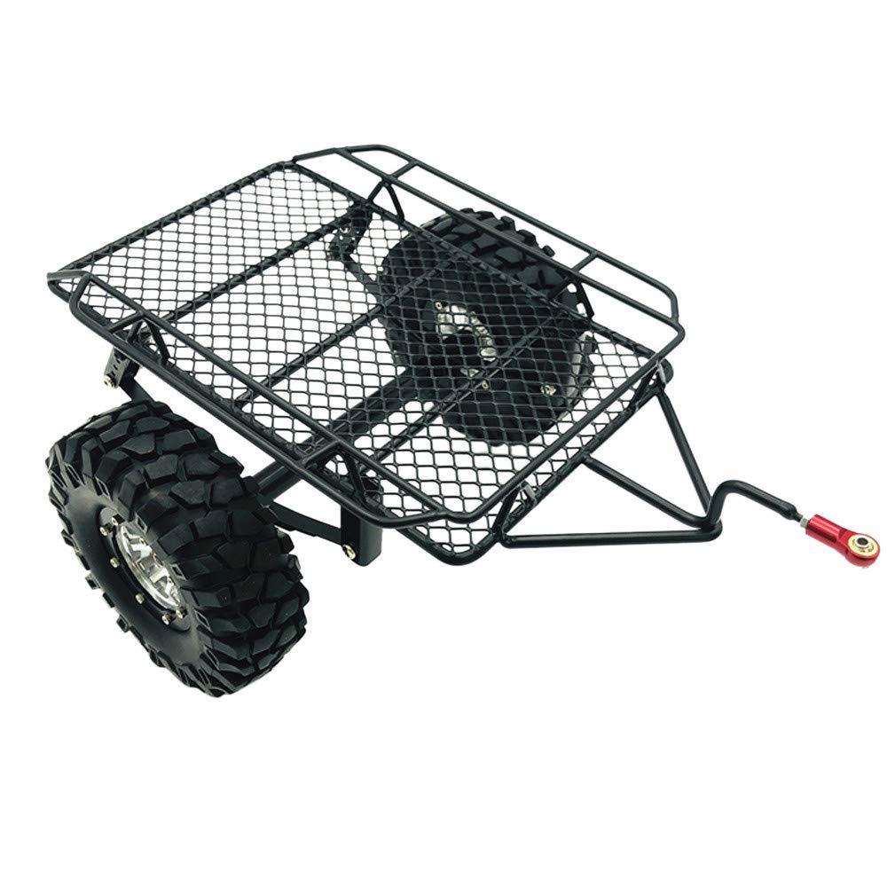 Littleice アップグレードトレーラー DIYパーツセット 1/10 D90 TRX-4 トラック RCカー プラスチックメタル B07LFT4PZ5