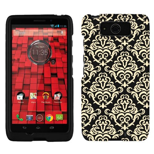 Motorola Droid Ultra Case, Snap On Cover by Trek Beautiful Vintage on Black Firm Case