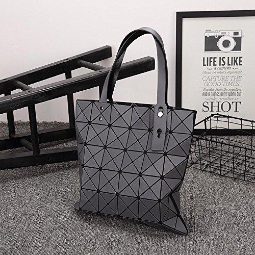 Aoligei Pliage simple épaule sac à main géométrie losange tréfilage de Laser paquet 6 * 6 C