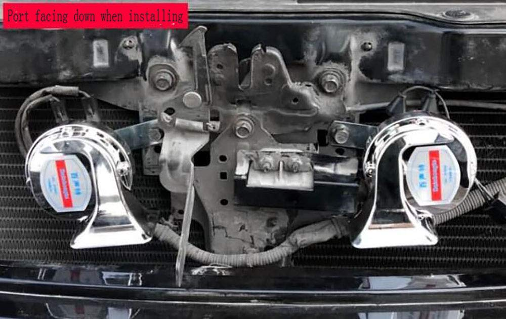 Waitinsd 12V 120dB lautes Auto Auto LKW Elektrofahrzeug Horn Schnecke