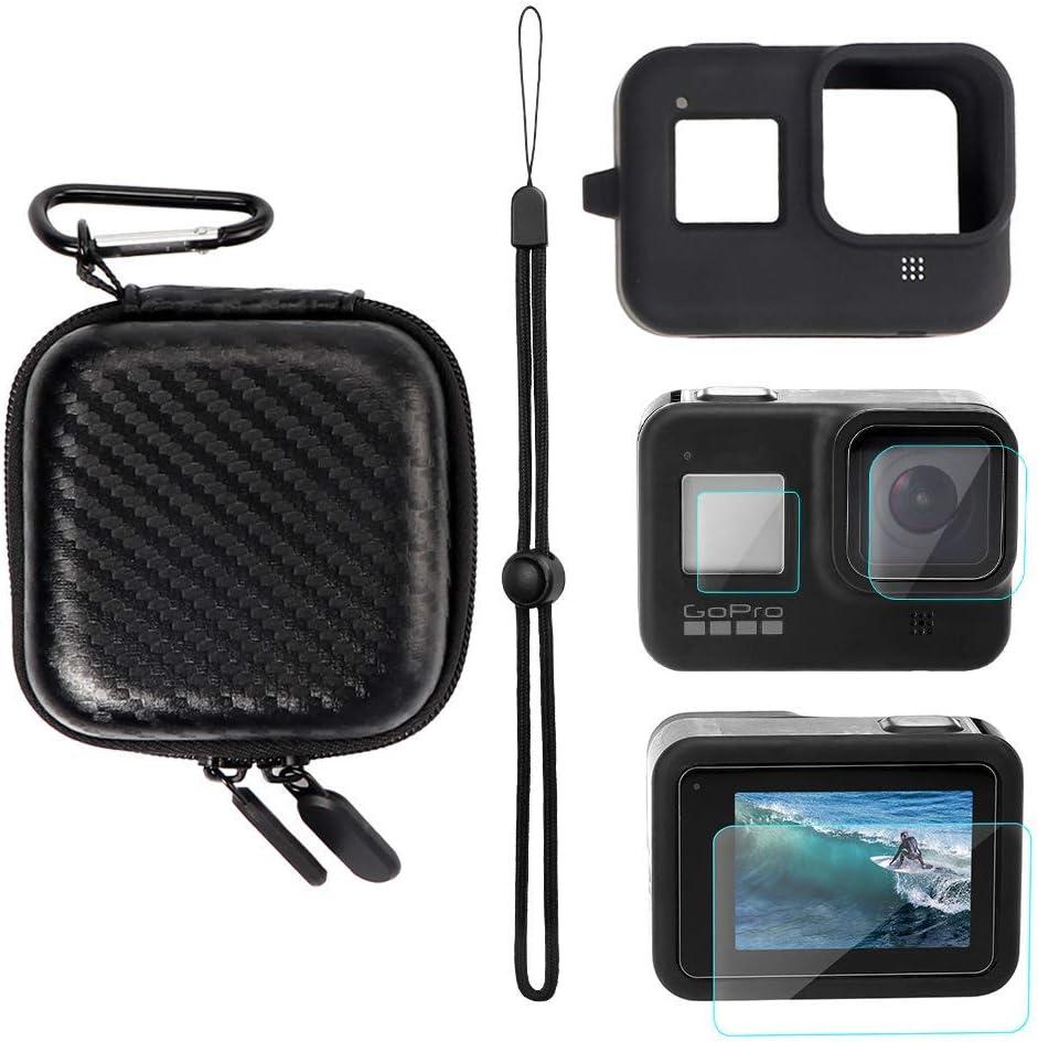 Film de Protection pour Objectif YSTFLY Kit daccessoires pour GoPro Hero 8 Noir Housse de Protection en Silicone
