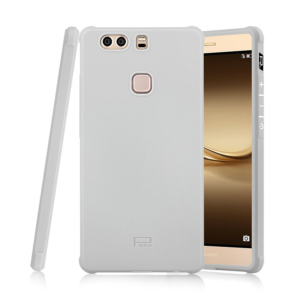 Hevaka Blade Huawei P9 Plus Funda - Suave Silicona TPU Carcasa Smart Case Cover Para Huawei P9 Plus - Gris
