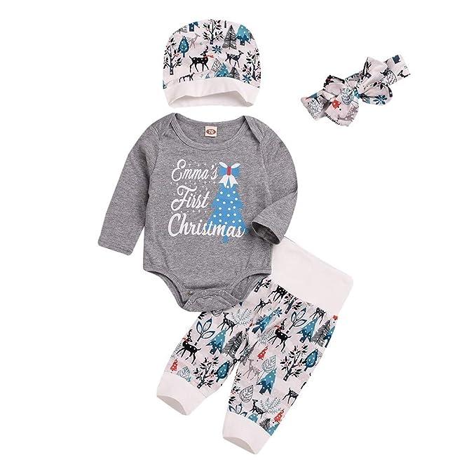 Amazon.com: Trajes de Navidad para recién nacidos, bebés ...