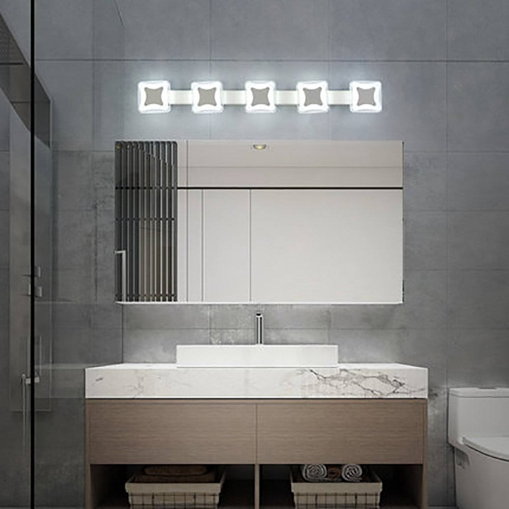 Luces de baño Creative Creative Creative LED Impermeable Espejo de ...