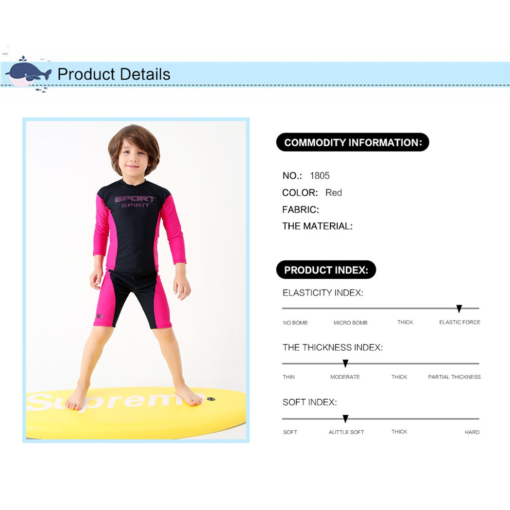 H/ÖTER HOTER New Style Little Boys Long Sleeve Five Pants Fashionable Training Racing Swimsuit