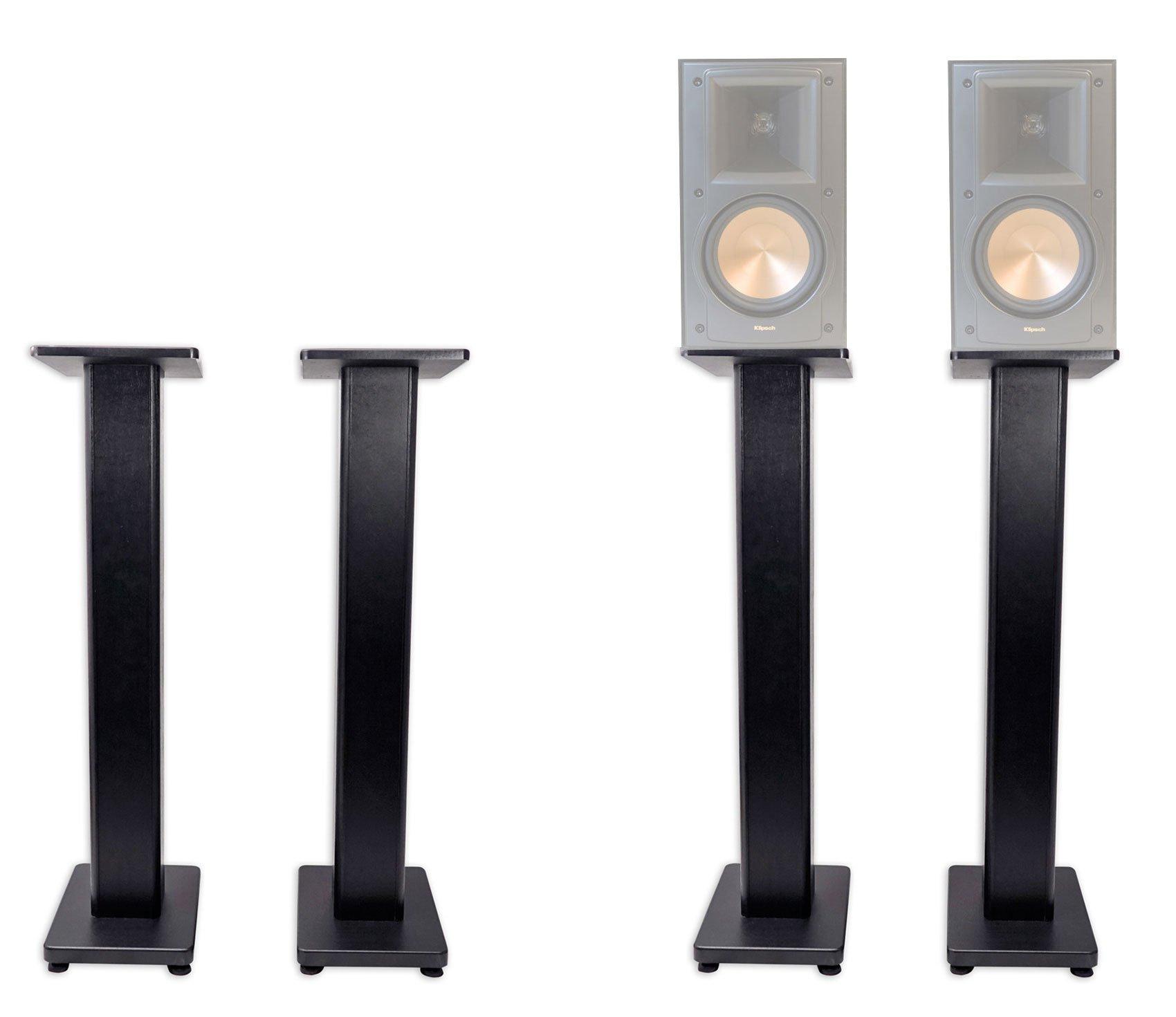 Pair 36'' Bookshelf Speaker Stands For Klipsch RB-51 II Bookshelf Speakers
