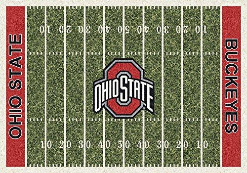 10'9 College Rug (Milliken 4000018676 Ohio State College Home Field Area Rug, 10'9