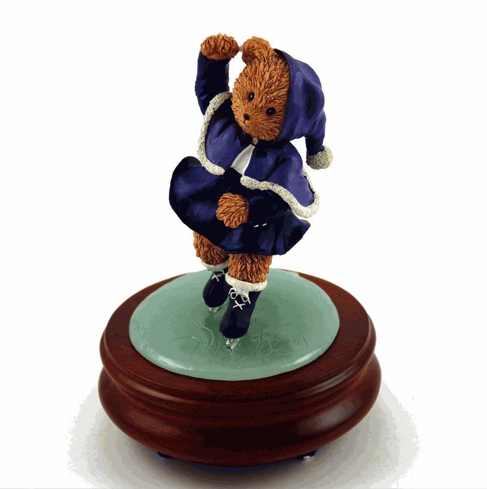 Thread Bears - Over 400 Song Choices - Ice Skater Threadbear Musical Figurine Shall We Dance