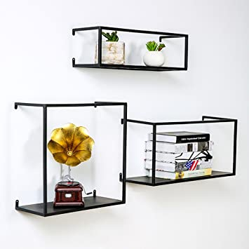 REGAL BOBE SHOP- Wall Decoration Bücherregal - Gold/Schwarz Eisen ...