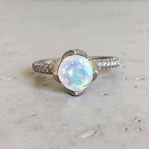 Amazoncom Lotus Flower Opal Engagement Ring Rose Gold Opal