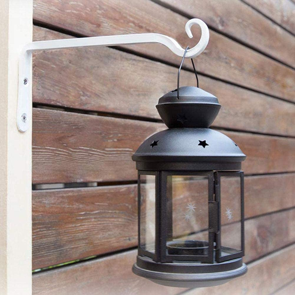 cestas colgantes para comedores de p/ájaros soportes para colgar en la pared linternas y campanillas de viento Ganchos para colgar en la pared con tornillos plantas de hierro forjado