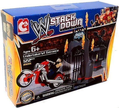 The Bridge Direct Wwe Wrestling Stack Down Universe Building Toy Set Undertaker'S Entrance By Bridge Direct by The Bridge Direct