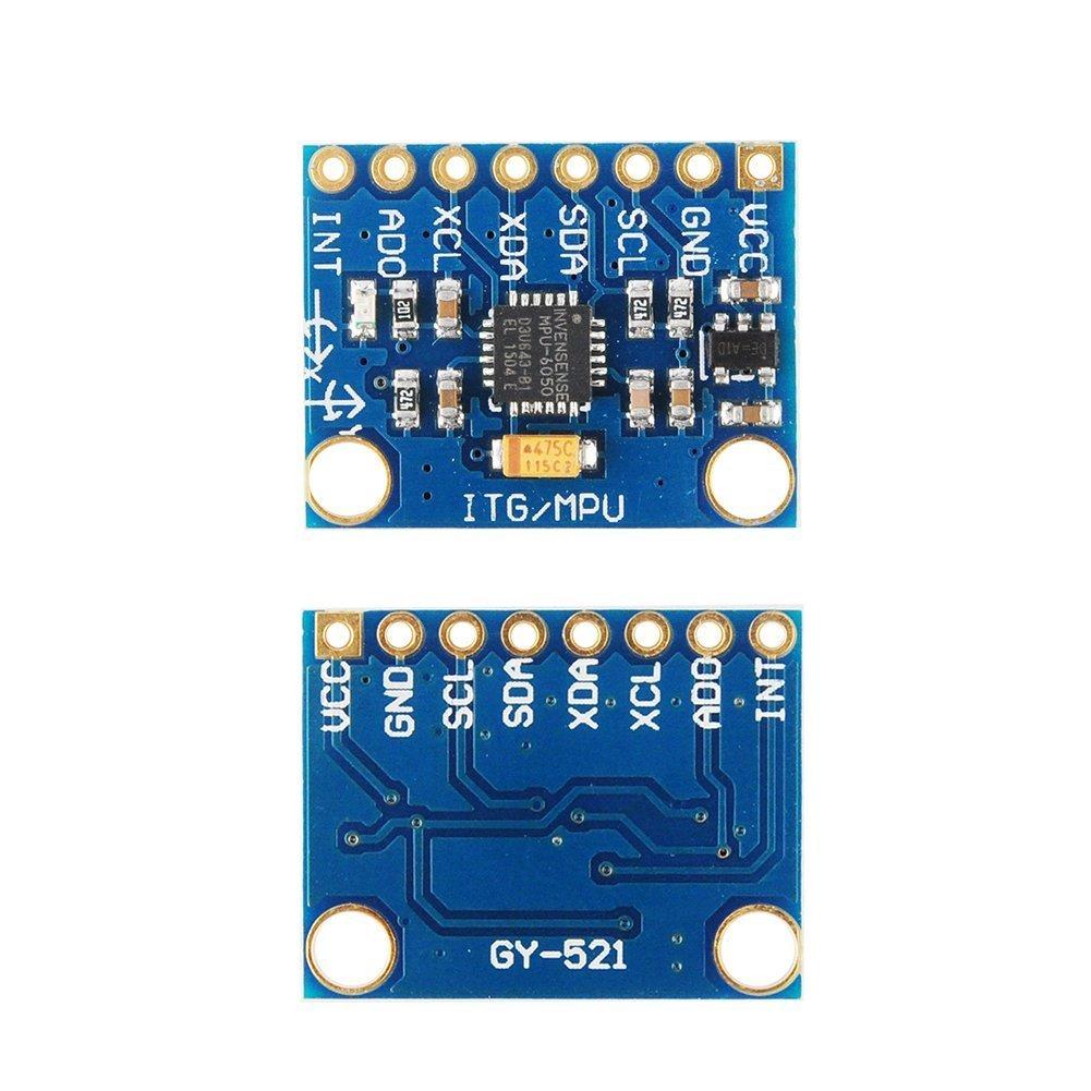 Amazon.com: GY-521 MPU-6050 MPU6050 3 Axis Accelerometer Gyroscope Module 6  DOF 6-axis Accelerometer Gyroscope Sensor Module 16 Bit AD Converter Data  Output ...