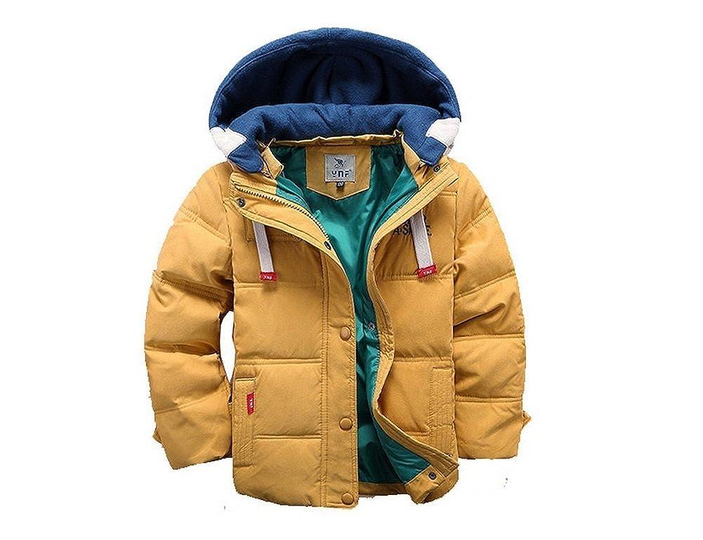 dc04b52bc Amazon.com: Toddler Winter Coats for Boys Yellow Cotton Down Winter ...