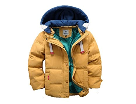 dd6244346246 Amazon.com  Toddler Winter Coats for Boys Yellow Cotton Down Winter ...