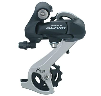 Shimano Alivio RD-M410 Rear Derailleur 7/8-Speed SGS Long Cage Direct Mount  Black