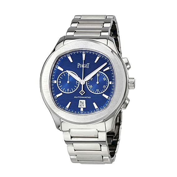 Piaget polo s automático cronógrafo azul Dial Mens Reloj g0 a41006: Amazon.es: Relojes