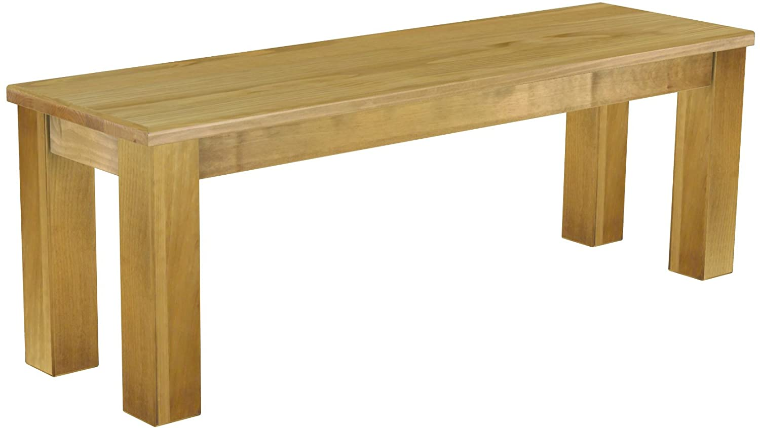 BrasilmÖbel Bench Solid Pine 130 Cm Tonal Brasil - Oiled And Waxed