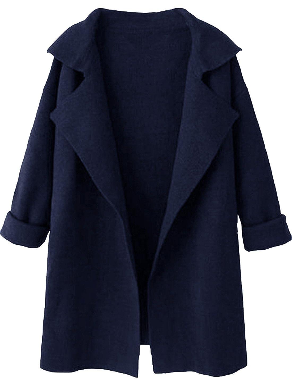 Cappotto Shein Side Blu Cappotto Shein Blu Donna Donna Blu Donna Cappotto Side PN8OkXwn0
