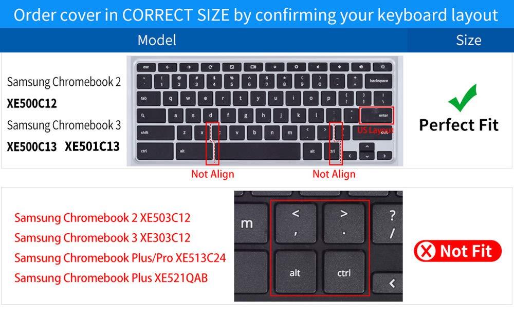 Amazon.com: CaseBuy Keyboard Cover Skin Compatible 2019/2018/2017 Samsung Chromebook 3 XE500C13 XE501C13 11.6 inch / 11.6