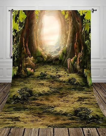 Nivius Photo 150x300cm Wonderful Forest Tour Waschbar Kamera