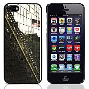 Graphic4You Brooklyn Bridge New York Postcard Design Hard Case Cover for Apple iPhone 5 & 5S
