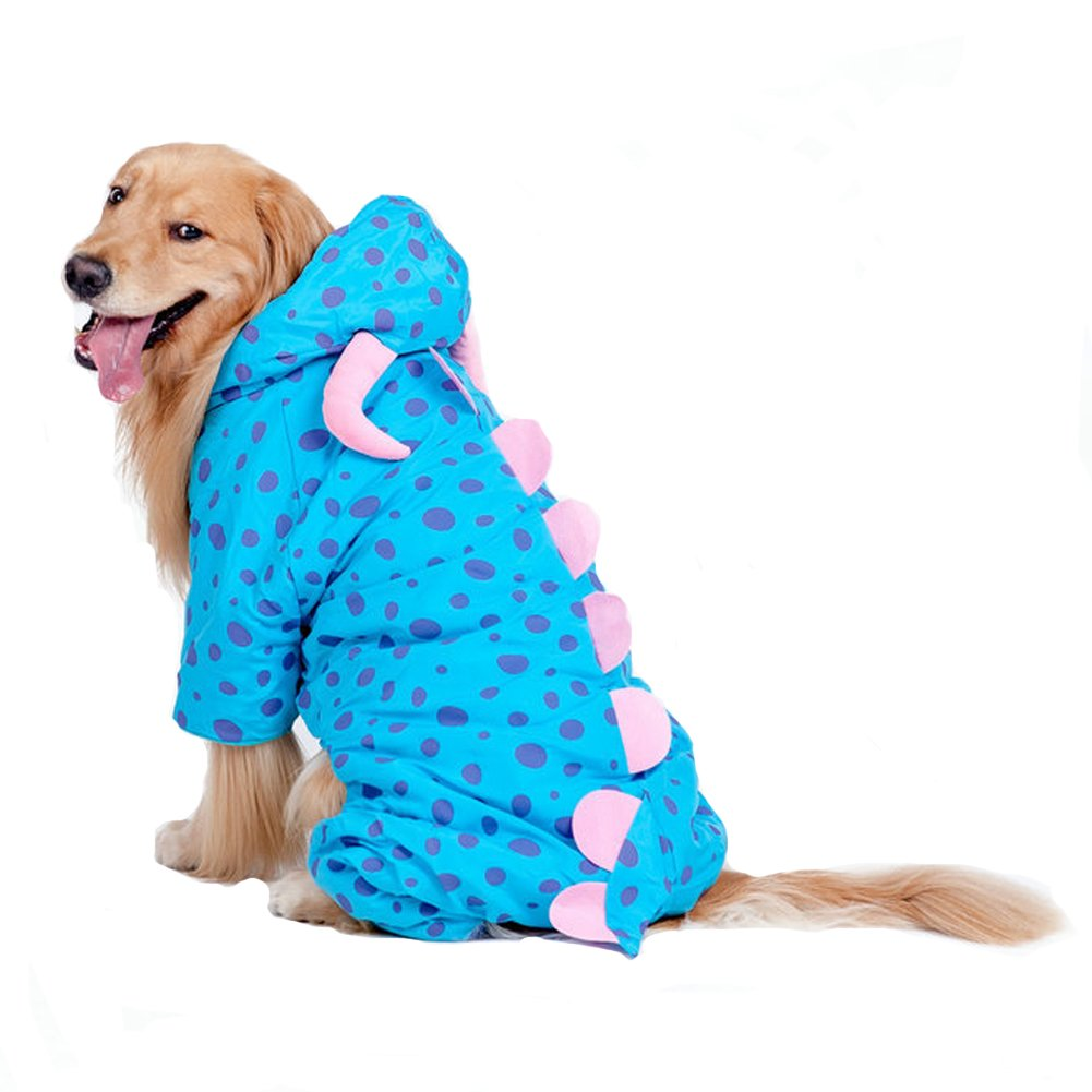 M Lifeunion Funny Design Polyester Causal Windbreaker Winter Coat Jacket with Hood for Large Extra Large Dogs (M)