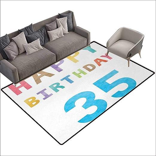 Felpudo con diseño de 35 cumpleaños Personalizado, Velas y ...