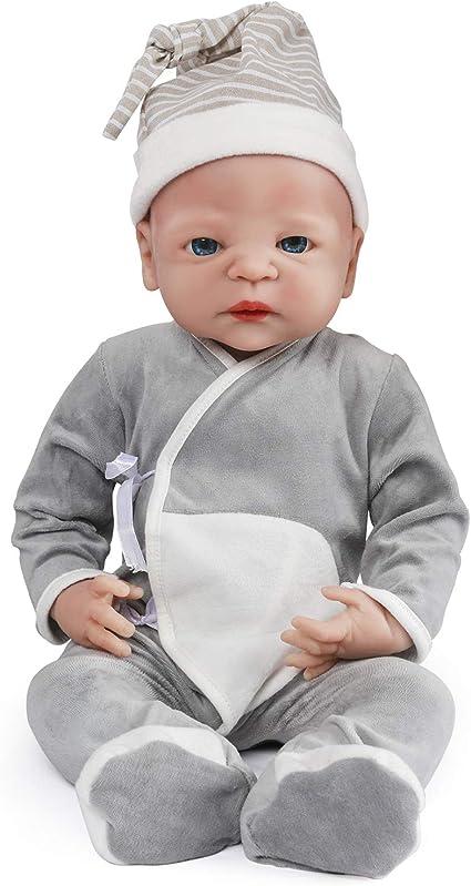 """22/"""" inch Realistic Reborn Baby Doll Boy Newborn Lifelike Vinyl Silicone US"""