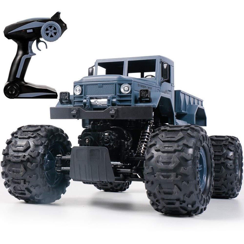 PETRLOY Télécomhommede voiture tout-terrain d'escalade 2.4GHZ électronique RC 30MPH vitesse de course à l'échelle 1 14 camion monstre FFor enfants garçons jouet 4WD chargeable bleu montagne voiture déri