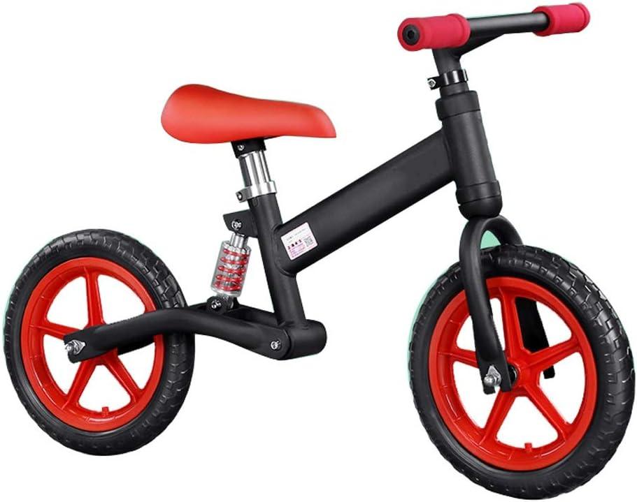 WENJUN Bicicleta Sin Pedales, Bicicleta Ligera De Equilibrio, Bicicleta Metal No Pedal Balance con Ruedas De Aleación  para Niños De 2-6 Años, Primera Bicicleta Bicicleta De Entrenamiento,Rojo