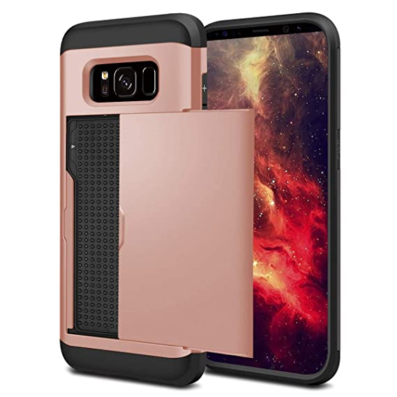 Shockproof Slim Wallet Credit Card Holder Case Cover Objective Samsung Galaxy S7 pro-m