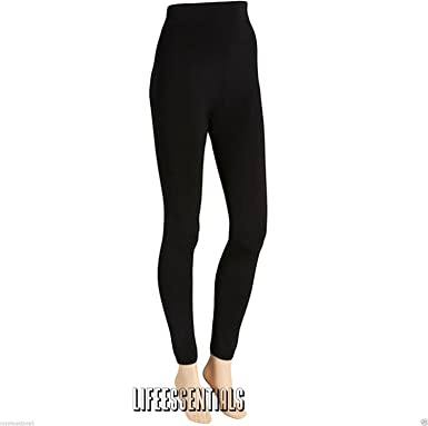 Ladies Women Winter Warm Fleece Lined Thick Thermal Footless Black Tights S-2XL