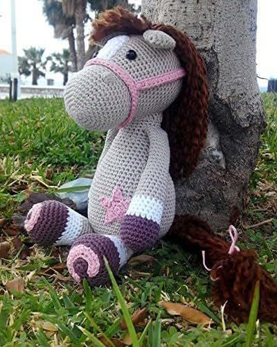 Caballo Amigurumi, caballo de peluche, regalo infantil