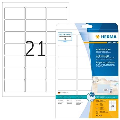 Amazon.com: Herma Special - Etiquetas adhesivas permanentes ...