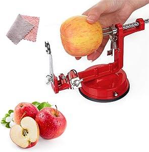 Apple Peeler Slicer, 3 in 1 Table Top Stainless Fruit Potato Peeler Corer Slicer Cutter Bar Home Hand-cranked