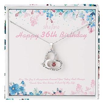 Regalo de cumpleaños 36 para mujer - Collar de acero ...