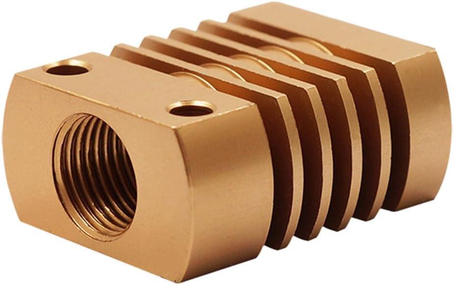 Oro bloque de enfriamiento para la impresora 3D Extrusor MK10 UKCOCO Radiador de aluminio del disipador de calor