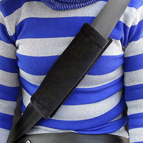 TRIXES 2X Car Seatbelt Comfort Pads Hook And Loop Strap Travel Cushion Seat Belt Covers