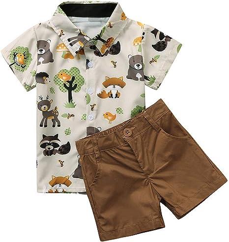 Sayla - Camisa de manga corta para niños con dibujo animado y ...