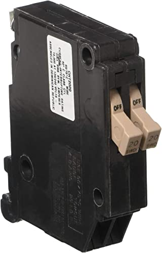 EATON GIDDS-606124 3 4 , 120 Vac, 20 Amps 606124 Ch Series Single-Pole Twin Breaker