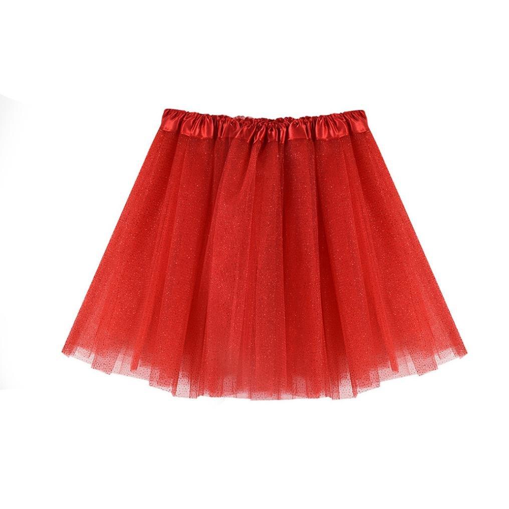 3b648afdf Amazon.com: Inkach Baby Girls Tutu Skirt - Fancy Toddler Kids Dance Ballet  Skirts Fluffy Tulle Petticoat Shorts (Red): Baby
