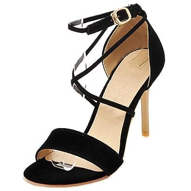 278f8de9df9df Amazon.com | Rongzhi Womens High Heels Stilettos Pumps Cross Ankle ...
