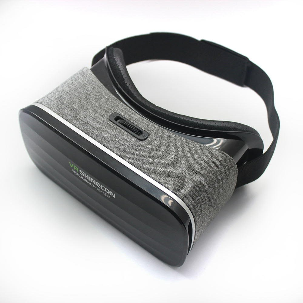 VR SHINECON SCP-005 Virtual Reality Goggles Headset, 3D Viewing Glasses with Pupil Focal Distance Adjustable Suitable for Google/iPhone/Samsung Note/LG/Huawei/HTC/Moto Screen