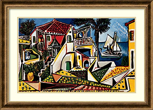 Framed Art Print, 'Paysage Mediterraneen' by Pablo for sale  Delivered anywhere in USA
